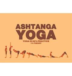Ashtanga yoga Poster vector image
