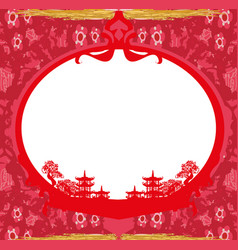 asian landscape card vector image