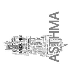Asthma a respiratory disorder text word cloud vector