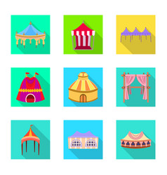 awning and shelter icon vector image