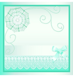 background card with a bow vector image