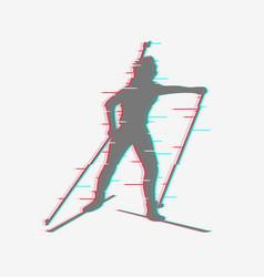 biathlete runs the distance vector image
