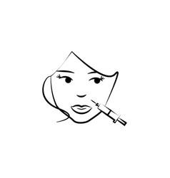 Botox on lips icon element anti aging icon vector