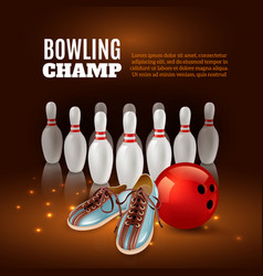 Bowling champ 3d vector