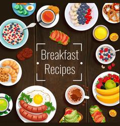 Breakfast recipes vector