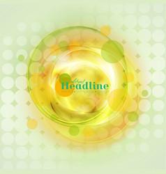 bright yellow and green circles abstract vector image