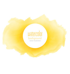 Bright yellow watercolor grunge texture background vector