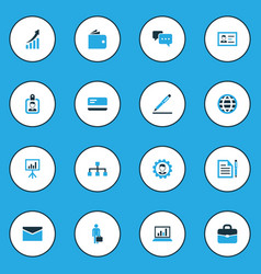 Business colorful icons set collection dialog vector
