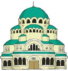 byzantine building vector image