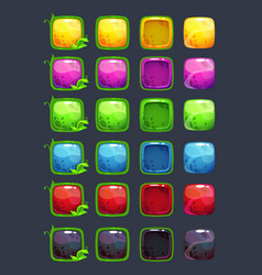 cartoon colorful square buttons vector image