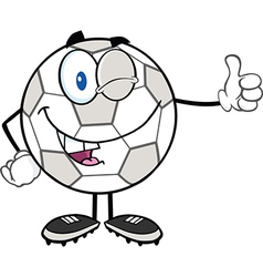 Cartoon soccer ball vector