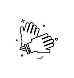Championship cricket gloves keeper icon design vector