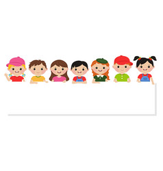 children and banner children and banner vector image
