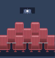 cinema interior image vector image