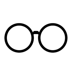 Classic round glasses vector