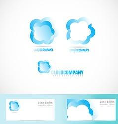 cloud logo design set vector image