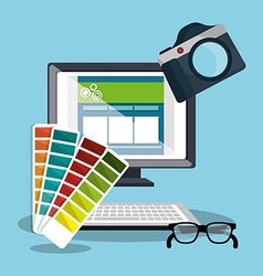 Computer web design vector