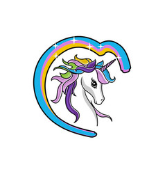 Create your own unicorn - big collection unicorn vector