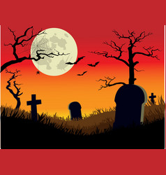 Creepy Graveyard vector