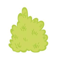 Cute fairytale bush icon vector