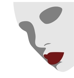 Fashion Beauty Woman Face Silhouette vector image