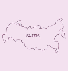 flag map of russia vector image