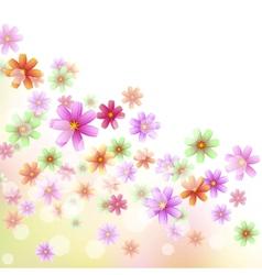 Floral border wallpaper vector