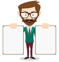 Full body portrait of happy smiling businessman vector