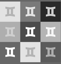 gemini sign grayscale version of popart vector image