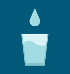 glass of water with a drop for world water day on vector image