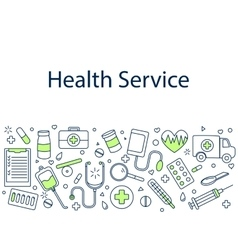 Health service banner vector
