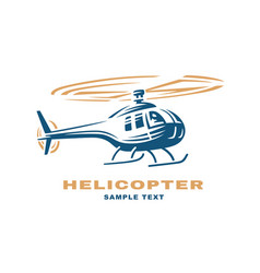 helicopter logo design vector image