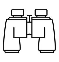 hiking binocular icon outline style vector image