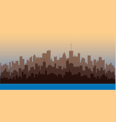 Horizontal city landscape vector