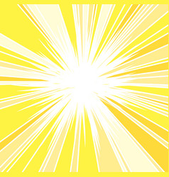 hot and glittering summer sun vector image
