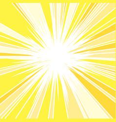 Hot and glittering summer sun vector