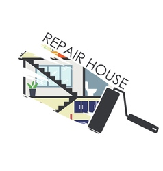 House remodeling infographic vector image