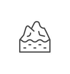iceberg top line outline icon vector image
