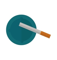 Icon cigarettes design idea and smoke problem vector