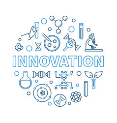 Innovation genetics creative outline round vector