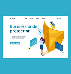 Isometric ensure full safety your business vector