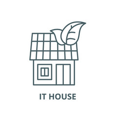 it house line icon linear concept outline vector image