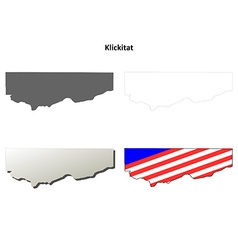 Klickitat Map Icon Set vector