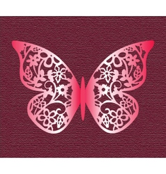 Lace Butterfly on texture background vector