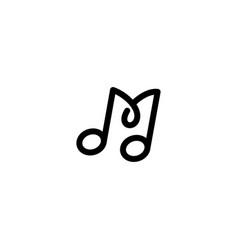 Letter m music logo design template vector