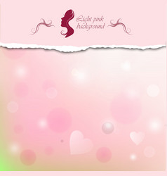 Light pink background with space for text vector image