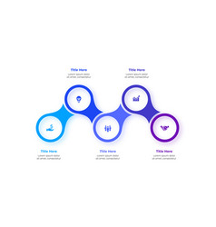 Metaball infographic elements five circles vector