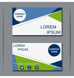 Modern visiting card template vector