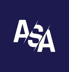 Monogram letters initial logo design asa vector