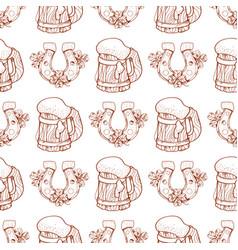 mug with beer foam seamless pattern vector image
